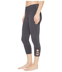 Prana Deco Crop Charcoal Heather Women's Casual Pants Gray