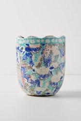 Anthropologie Bismark Garden Pot Blue
