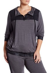 Marika Broadway Foil Hoodie Plus Size Gray