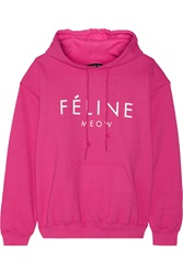 Brian Lichtenberg Feline Cotton Blend Jersey Hooded Top