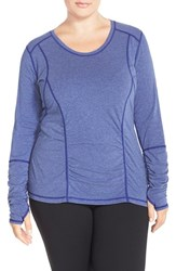 Plus Size Women's Zella 'Z 6' Long Sleeve Tee Purple Amazon