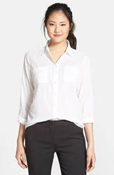 Caslon Long Sleeve Cotton Shirt Regular And Petite White