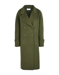 Jolie By Edward Spiers Coats Military Green