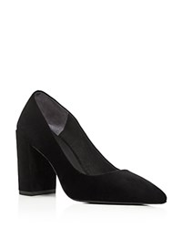 Kenneth Cole Margaux Pointed Toe Block Heel Pumps Black