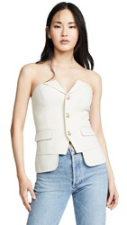 Laveer Button Up Bustier Top Ivory