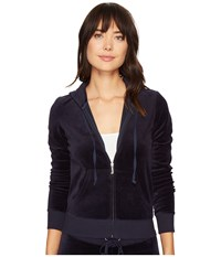 Juicy Couture Robertson Velour Jacket Regal Women's Coat Navy