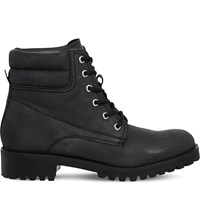 Office Adventure Utility Nubuck Ankle Boots Black Nubuck