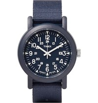 Timex Camper Resin And Grosgrain Watch Navy