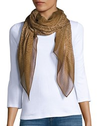 Lauren Ralph Lauren Tonal Patterned Scarf Tan
