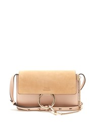 Chloe Faye Small Suede And Leather Shoulder Bag Light Pink
