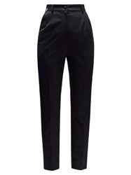 Dolce And Gabbana High Rise Slim Leg Tailored Trousers Black