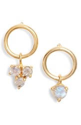 Argentovivo Argento Vivo Sweetheart Mismatched Stone Earrings Gold