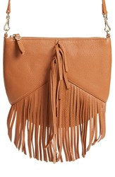 Etienne Aigner 'Fringe Moda' Crossbody Bag Brown Cognac