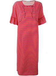 Vivetta Embroidered Striped Dress