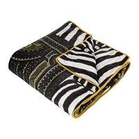 Roberto Cavalli Glamour Silk Throw Black