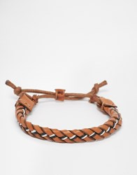 Jack And Jones Jack And Jones Leather Plaited Bracelet Brown