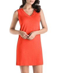 Hanro Champagne Tank Gown Passionate Red