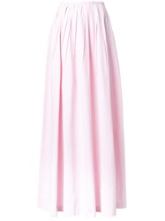 Michael Kors Long Pleated Skirt Pink Purple