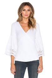 Vava By Joy Han Venetia Bell Sleeve Top White