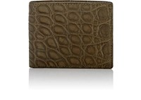 Barneys New York Men's Alligator Billfold Dark Green