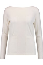 Pringle Of Scotland Merino Wool Cashmere And Silk Blend Sweater Cream