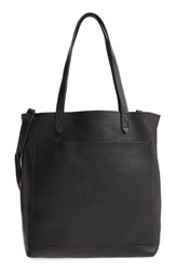Madewell Medium Leather Transport Tote Black True Black