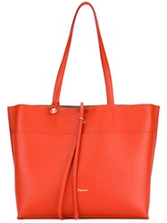 Repetto Logo Stamp Tote Women Leather One Size Red