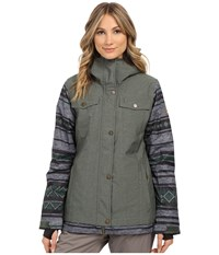Roxy Ceder Snow Jacket Jungle Green Women's Coat Olive