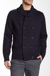 Vince Wool Shawl Collar Peacoat Blue