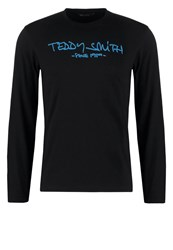 Teddy Smith Ticlass Long Sleeved Top Noir Blue Aghate Black Denim