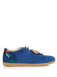 Gucci Bambi Suede Trainers Blue Multi