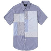 Rough And Tumble Short Sleeve Block Shirt Blue