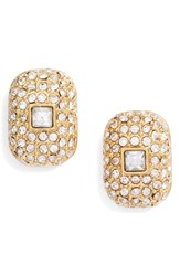 Vince Camuto Pave Stud Earrings Gold