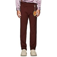 Martine Rose Wrap Effect Trousers Wine