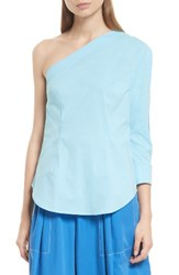 Tracy Reese Women's One Shoulder Top Cornflower