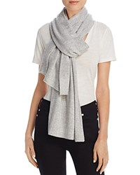 Minnie Rose Studded Cashmere Scarf Light Heather Gray