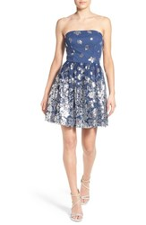 Women's Love Nickie Lew 'Britt' Sequin Strapless Fit And Flare Dress