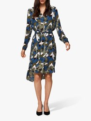 Selected Femme Dynella Leaf Print Shirt Dress Primrose Pink Multi