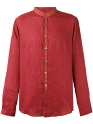 John Varvatos Mandarin Collar Shirt Red