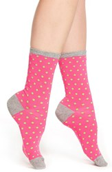 Women's Hot Sox Tiny Polka Dot Crew Socks