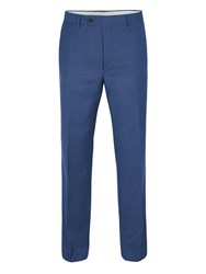 Paul Costelloe Mercer Wool Sharkskin Suit Trousers Blue