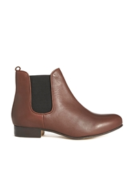Bertie Mouse Leather Chelsea Boots Chestnut