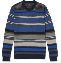 Paul Smith Ps Striped Knitted Sweater Navy