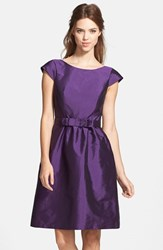 Women's Alfred Sung Bow Detail Satin Fit And Flare Dress Majestic
