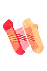 Adidas Climacool Superlite No Show Socks Pack Of 3 Red