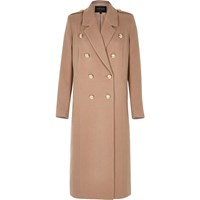 River Island Womens Light Pink Double Breasted Military Coat