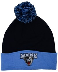 Top Of The World Maine Black Bears 2 Tone Pom Knit Hat