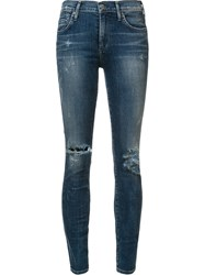 Citizens Of Humanity High Waisted Skinny Jeans Blue