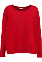Joie Narcisse Wool And Cashmere Blend Sweater Red