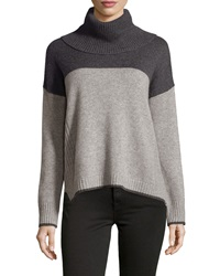 Philosophy Cashmere Cashmere Colorblock Ribbed Sweater Black Chal